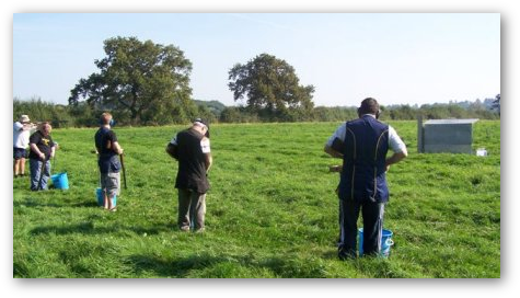 Shooting DTL Clay Pigeons in rural South Cheshire