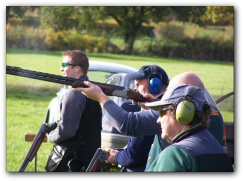 Clay pigeon shooting club in south Cheshire